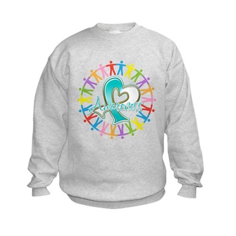 Cervical Cancer Unite Awareness Kids Sweatshirt
