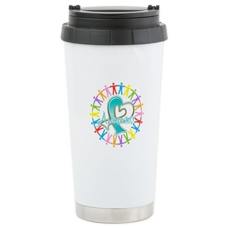 Cervical Cancer Unite Awareness Ceramic Travel Mug
