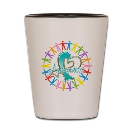 Cervical Cancer Unite Awareness Shot Glass