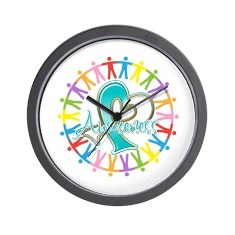 Cervical Cancer Unite Awareness Wall Clock
