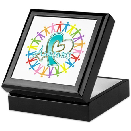 Cervical Cancer Unite Awareness Keepsake Box