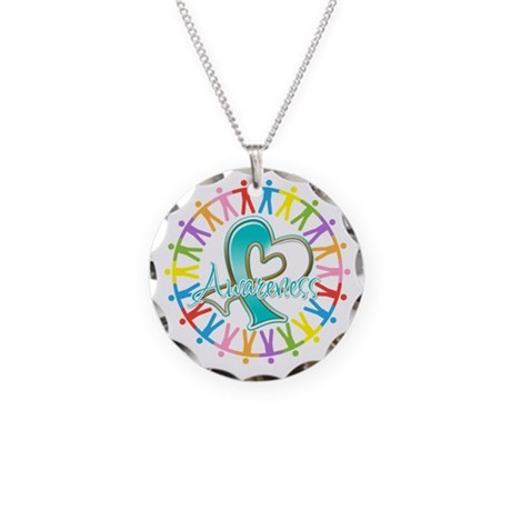 Cervical Cancer Unite Awareness Necklace Circle Ch