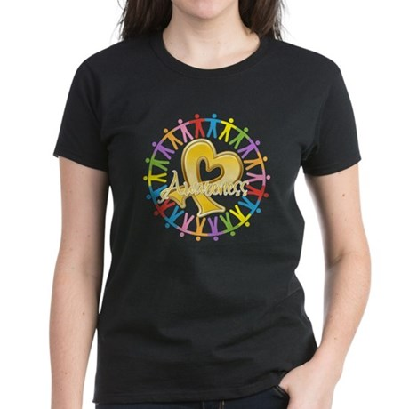 Childhood Cancer Awareness Women's Dark T-Shirt