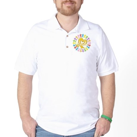 Childhood Cancer Awareness Golf Shirt