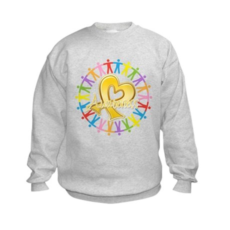 Childhood Cancer Awareness Kids Sweatshirt
