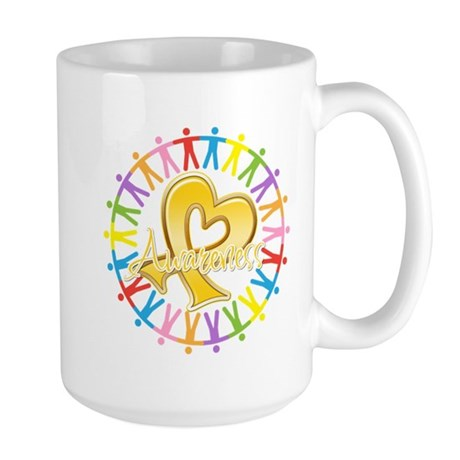 Childhood Cancer Awareness Large Mug