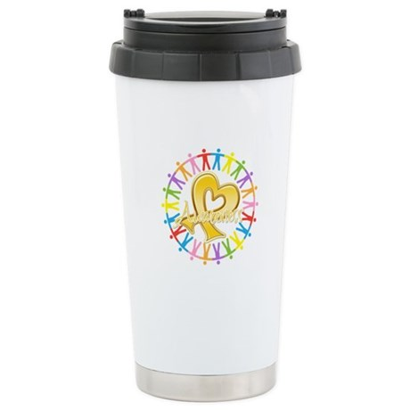 Childhood Cancer Awareness Ceramic Travel Mug