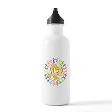 Childhood Cancer Awareness Water Bottle