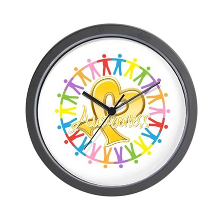 Childhood Cancer Awareness Wall Clock