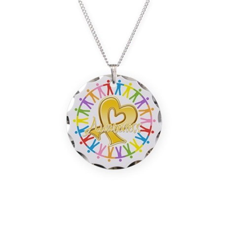 Childhood Cancer Awareness Necklace Circle Charm