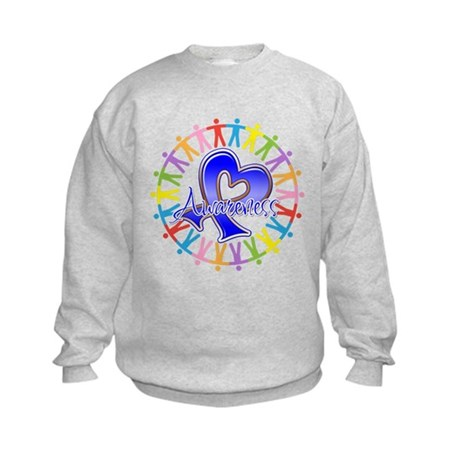 Colon Cancer Unite Awareness Kids Sweatshirt