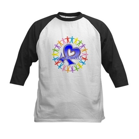 Colon Cancer Unite Awareness Kids Baseball Jersey