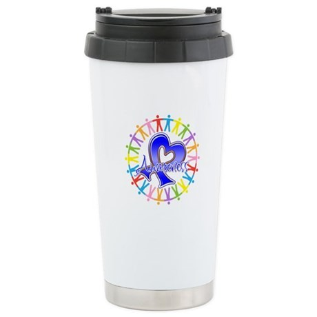 Colon Cancer Unite Awareness Ceramic Travel Mug