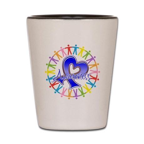 Colon Cancer Unite Awareness Shot Glass