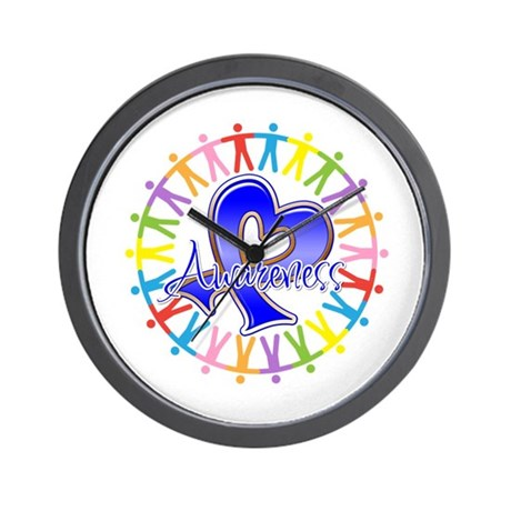 Colon Cancer Unite Awareness Wall Clock