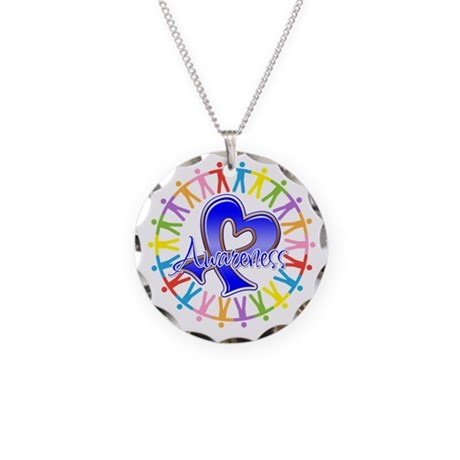 Colon Cancer Unite Awareness Necklace Circle Charm