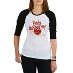 Emily Lassoed My Heart Jr. Raglan