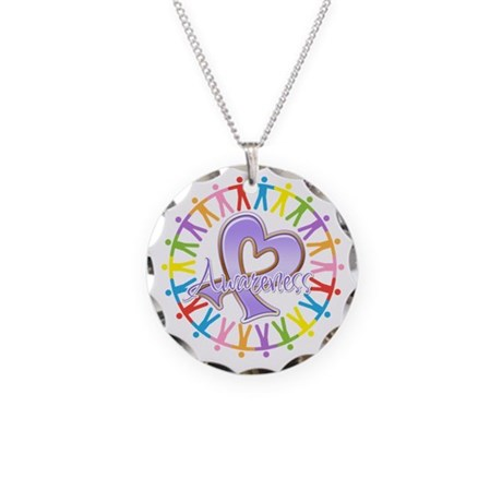 General Cancer Unite Necklace Circle Charm