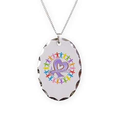 General Cancer Unite Necklace Oval Charm
