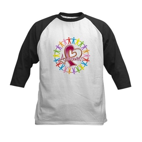 Head Neck Cancer Unite Kids Baseball Jersey