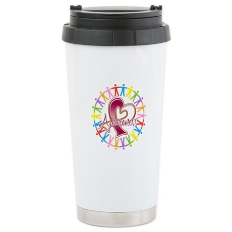 Head Neck Cancer Unite Ceramic Travel Mug