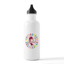 Head Neck Cancer Unite Water Bottle
