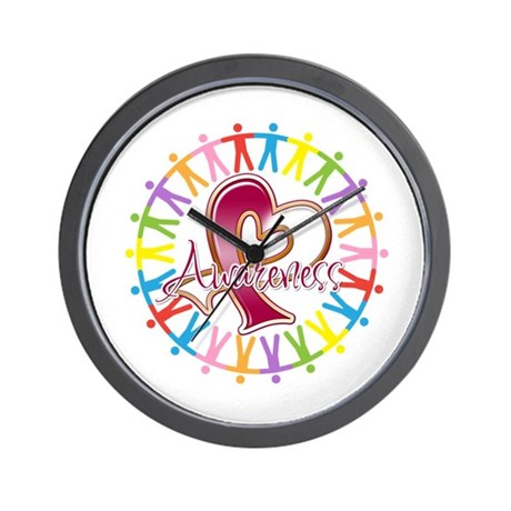 Head Neck Cancer Unite Wall Clock