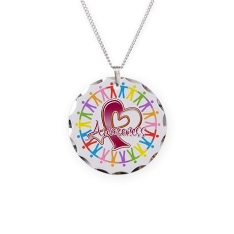 Head Neck Cancer Unite Necklace Circle Charm