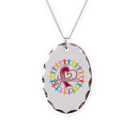 Head Neck Cancer Unite Necklace Oval Charm