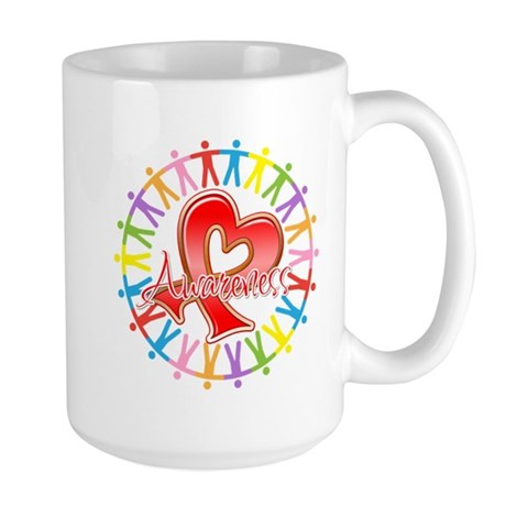 Heart Disease Unite Large Mug