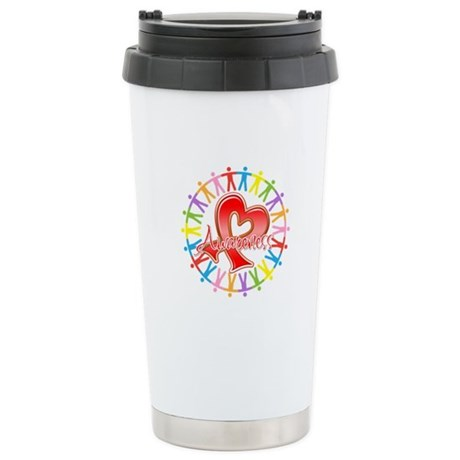 Heart Disease Unite Ceramic Travel Mug