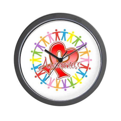Heart Disease Unite Wall Clock