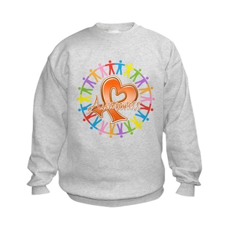 Leukemia Unite Awareness Kids Sweatshirt