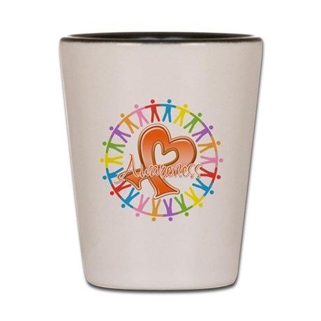 Leukemia Unite Awareness Shot Glass