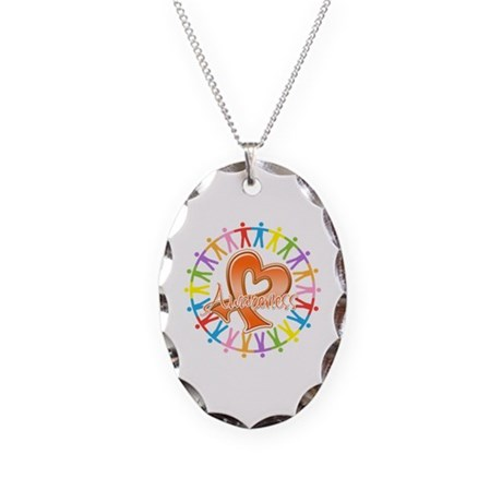 Leukemia Unite Awareness Necklace Oval Charm