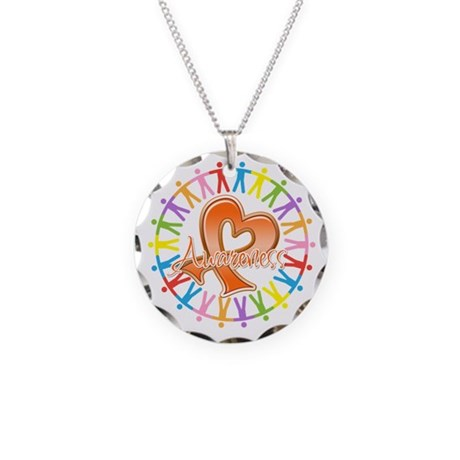 Leukemia Unite Awareness Necklace Circle Charm