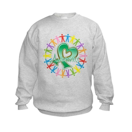 Liver Cancer Unite Awareness Kids Sweatshirt