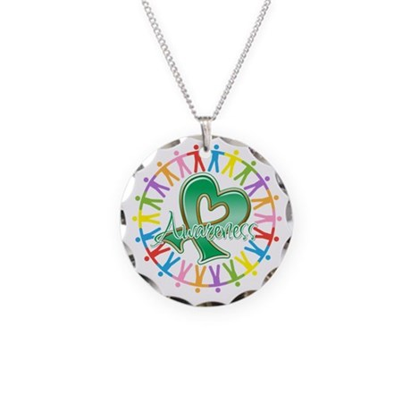 Liver Cancer Unite Awareness Necklace Circle Charm
