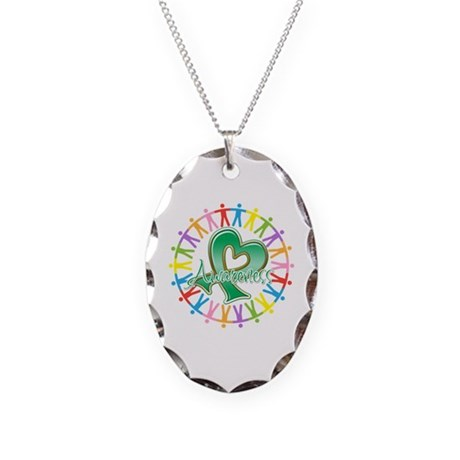 Liver Cancer Unite Awareness Necklace Oval Charm
