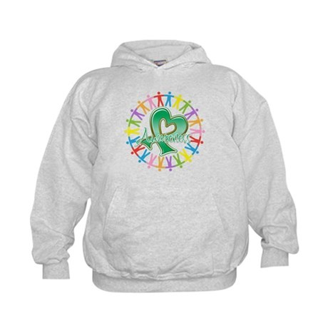 Liver Cancer Unite Awareness Kids Hoodie