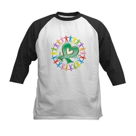 Liver Cancer Unite Awareness Kids Baseball Jersey