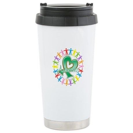 Liver Cancer Unite Awareness Ceramic Travel Mug