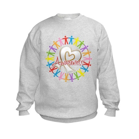 Lung Cancer Unite Awareness Kids Sweatshirt