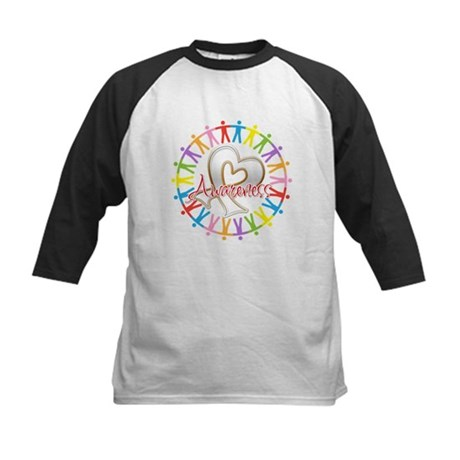 Lung Cancer Unite Awareness Kids Baseball Jersey