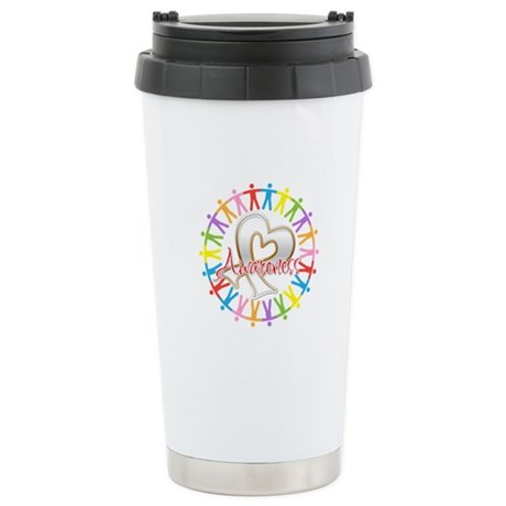 Lung Cancer Unite Awareness Ceramic Travel Mug