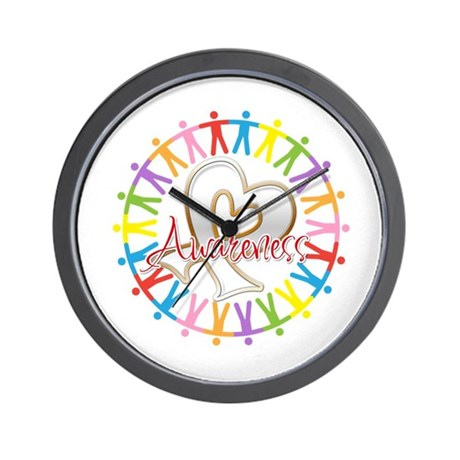 Lung Cancer Unite Awareness Wall Clock