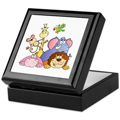 Jungle Animals Keepsake Box