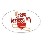 Irene Lassoed My Heart Sticker (Oval)