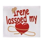 Irene Lassoed My Heart Throw Blanket