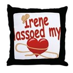 Irene Lassoed My Heart Throw Pillow